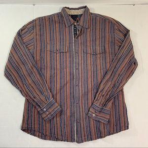 Men's Scully Western Flip Cuff Pearl Snap Shirt M